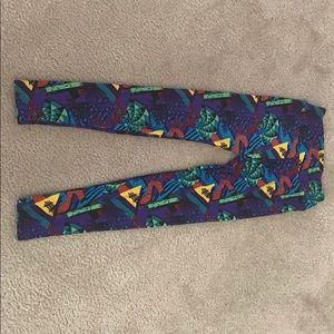 LuLaRoe OS wacky print leggings